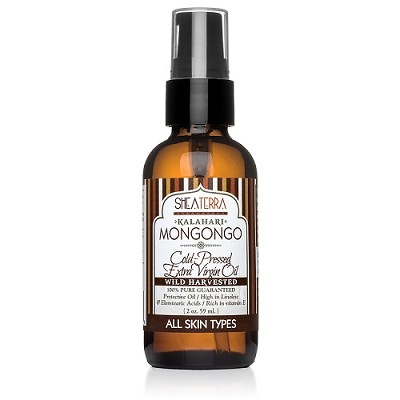 Face & Body 100% Pure Kalahari Mongongo Extra Virgin Oil (Cold Pressed, Wild Harvested) Shea Terra Organics