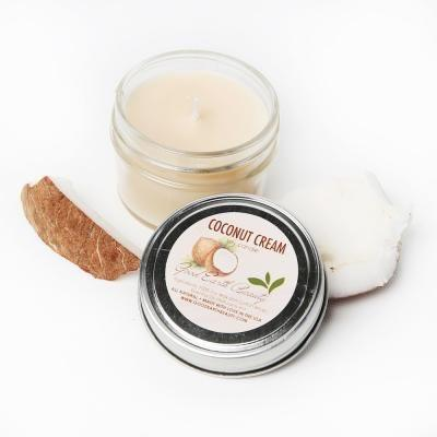 All Natural Soy Candle Coconut Cream