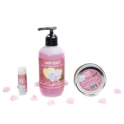 New Gift-Candy Hearts Gift Set  - Candle, Lip Balm and Hand/Body Wash