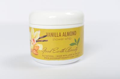 New Shower Whip - 4oz Exfoliating Shower Whip and Soap Almond Cream