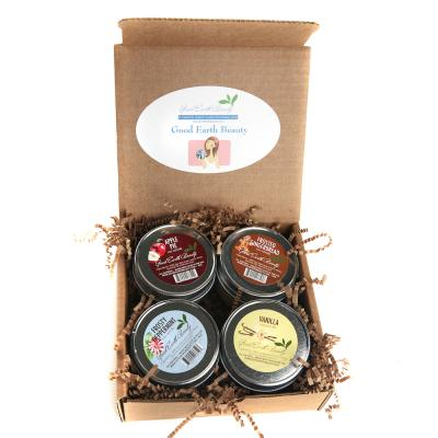 New Candle Lover's Gift Set  - set of 4 Apple Pie, Vanilla, Frosted Gingerbread and Frosty Peppermint,