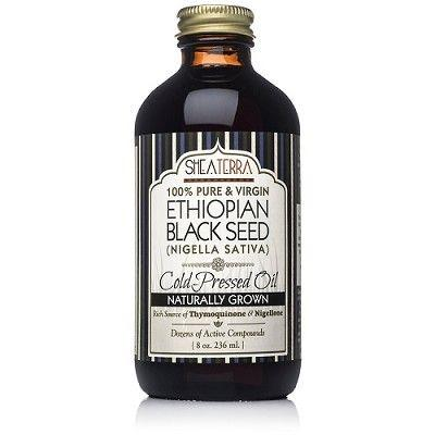 New 100% Pure Ethiopian Black Seed Oil 8 oz. (Very Strong, Naturally Grown in Bale Valley, Cold Pressed) by Shea Terra Organics