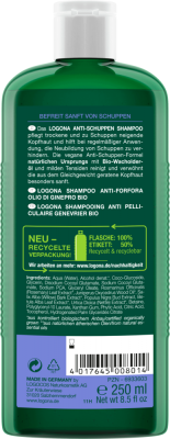 JUNIPER OIL ANTI-DANDRUFF SHAMPOO Logona by Natural Europe