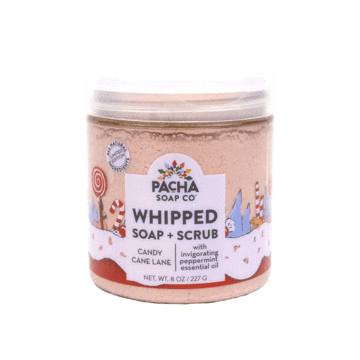 New Shower Whip - Whipped Soap & Scrub Exfoliating Vegan Candy Cane Lane by Pacha Soap