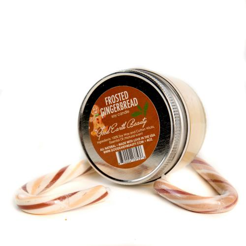 All Natural Soy Candle Frosted Gingerbread by Good Earth Beauty