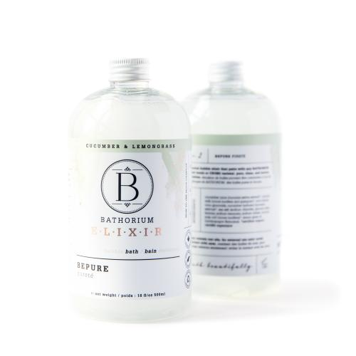 NEW LEMONGRASS & CUCUMBER INFUSED BUBBLE BE PURE BATH OIL BATHORIUM