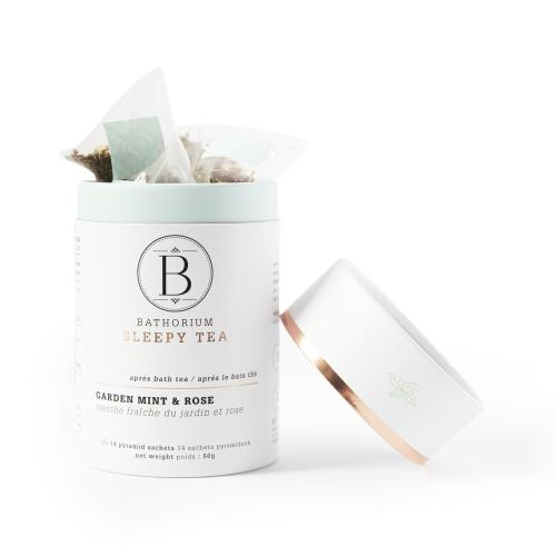 New Bathorium Garden Mint + Rose Herbal Tea