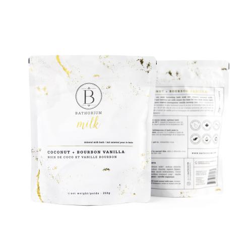 New Bath Soak Milk Mineral Coconut Vanilla 250gr