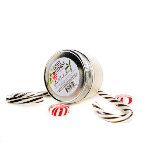 All Natural Soy Candle Frosty Peppermint by Good Earth Beauty