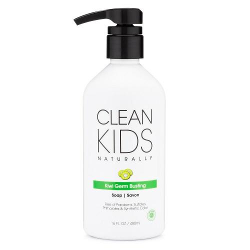 Clean Kids Soap Germ Busting Kiwi Liquid All Natural 16 Ounce