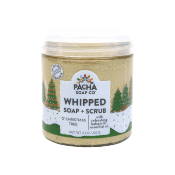 New Shower Whip - Whipped Soap & Scrub Exfoliating Vegan O Christmas Tree  by Pacha Soap