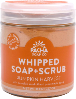 New Shower Whip - Whipped Soap & Scrub Exfoliating Pumpkin Harvest by Pacha Soap