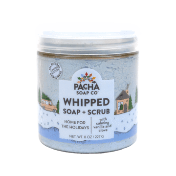 New Shower Whip - Whipped Soap & Scrub Exfoliating Vegan Home For The Holidays Pacha Soap