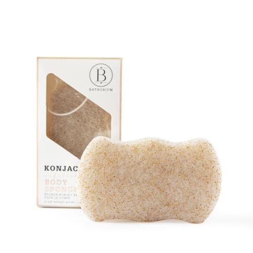 NEW BATH Konjac Walnut Shell Exfoliating Body Sponge Bathorium