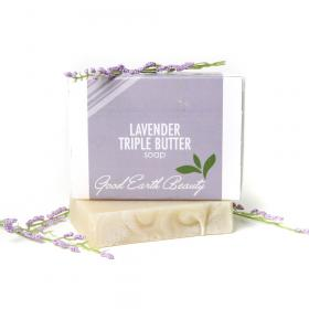 Bar Soap Lavender Triple Butter Good Earth Beauty