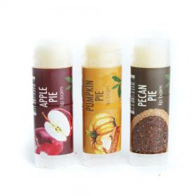 New Gift Set 3 Lip Balm Apple Pie Pumpkin Pie Pecan Pie