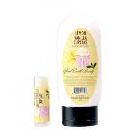 New Lemon Vanilla Cupcake Gift Set  - Lip Balm and Hand Cream Good Earth Beauty