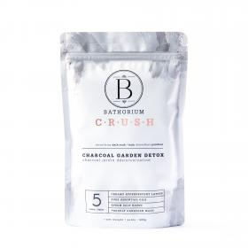 "New Bath Soak ""CRUSH"" Organic Charcoal Garden Detox 600 gr 5 baths"