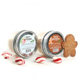 Soy All Natural Candles set 2 Frosty Peppermint & Frosted Gingerbread