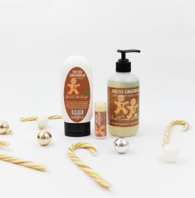 Frosted Gingerbread Holiday Gift Set  - Hand Cream, and Lip Balm, Hand and/Body Wash Good Earth Beauty