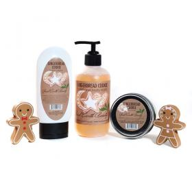 New GingerbreAd Cookie Gift Set  - Hand Cream, Candle and Hand/Body Wash Good Earth Beau