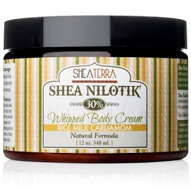 Body Cream - Shea Nilotik' 30% Shea Butter Whipped Body Cream RICE MILK CARDAMOM Shea Terra Organics