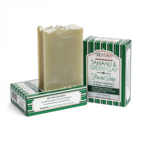 Soap-Tamanu & Green Clay Facial Soap  Shea Terra Organics
