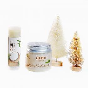 Coconut Gift Set Lip scrub and Lip Balm Good Earth Beauty