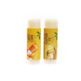 New Gift Set-Lip Balm Natural Vegan set of 2 Candy Corn & Pumpkin Pie Good Earth Beauty