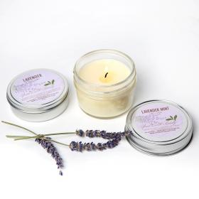 Lavender Gift Set  - Candle and Body Balm Good Earth Beauty