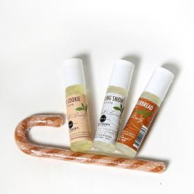 Perfume - set of 3 Holiday scents - Sugar Cookie, Sparkling Snow & Frosted Gingerbread Good Earth Beauty