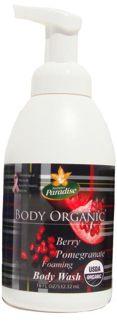 Body Wash Organic Berry Pomegranate Nature's Paradise Organics