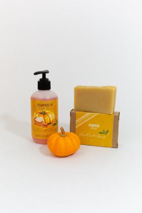 Pumpkin Gift Set Body Wash and Soap Good Earth Beauty